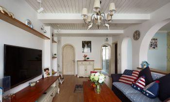 88平地中海演绎随意轻松生活地中海客厅装修图片
