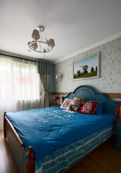 88平地中海演绎随意轻松生活地中海卧室装修图片