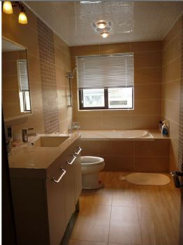 98平三居新中式风格案例中式卫生间装修图片