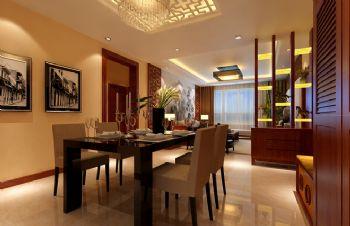 98平三居新中式风格案例中式餐厅装修图片
