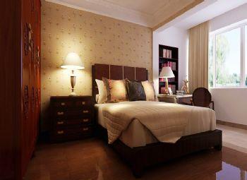 98平三居新中式风格案例中式卧室装修图片
