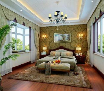 210平别墅简欧风格装修案例简约卧室装修图片