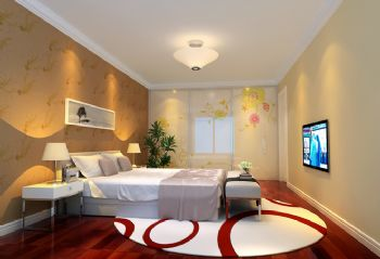 127平现代风格装修案例简约卧室装修图片