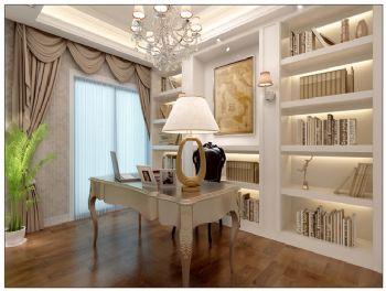 138平三居欧式古典风欧式书房装修图片