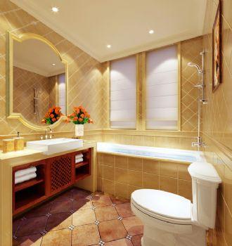 138平三居欧式古典风欧式卫生间装修图片