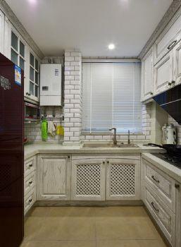 96平现代美式装修案例现代厨房装修图片