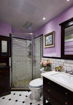 96平现代美式装修案例现代卫生间装修图片