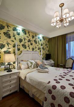96平现代美式装修案例现代卧室装修图片