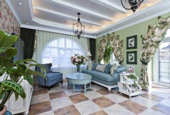 地中海客厅搭配方案地中海客厅装修图片