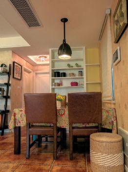 86平田园演绎植物控的乡村桃园生活田园餐厅装修图片