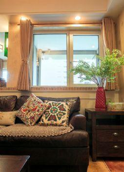86平田园演绎植物控的乡村桃园生活田园客厅装修图片