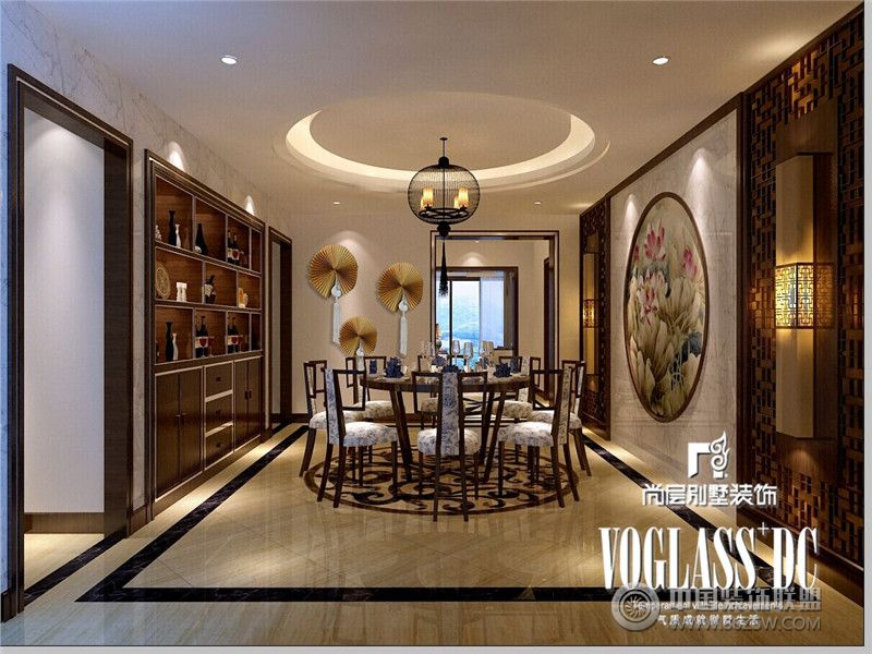龙湖世纪峰景新中式风格案例欣赏 餐厅装修效果图 八六 中国 装饰联盟高清图片