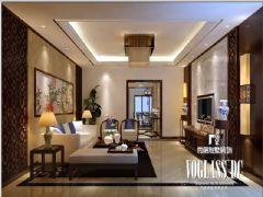 龙湖世纪峰景新中式风格案例欣赏中式客厅装修图片