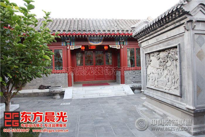 中式四合院设计影壁墙设计装修