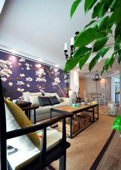165平新中式风格案例欣赏中式客厅装修图片