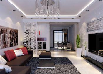 个性隔断设计演绎不同风格客厅