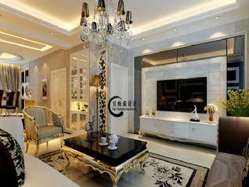 160平三居简欧风格案例欧式客厅装修图片