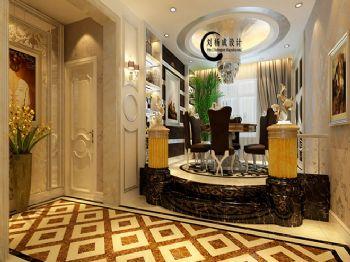 160平三居简欧风格案例欧式餐厅装修图片