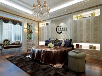 160平三居简欧风格案例欧式卧室装修图片
