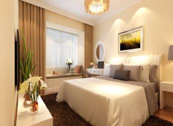 87平二居现代风现代卧室装修图片