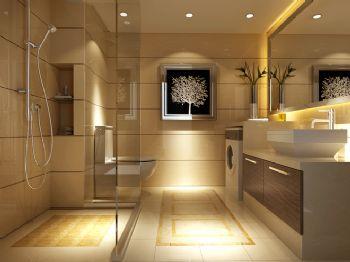 95平二居现代风格现代卫生间装修图片