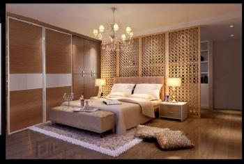95平二居现代风格现代卧室装修图片