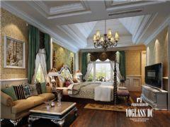 龙湾半岛美式风格案例美式卧室装修图片