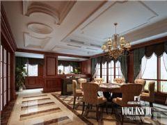 龙湾半岛美式风格案例美式餐厅装修图片