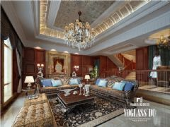 龙湾半岛美式风格案例美式客厅装修图片
