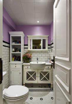 84平演绎华丽高贵温馨的浪漫主义混搭卫生间装修图片