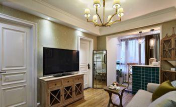 84平演绎华丽高贵温馨的浪漫主义混搭客厅装修图片