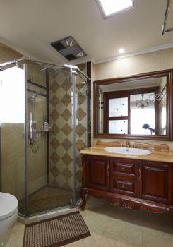 148平美式风格装修案例美式卫生间装修图片