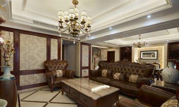 148平美式风格装修案例美式客厅装修图片