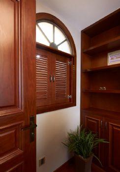 148平美式风格装修案例美式书房装修图片