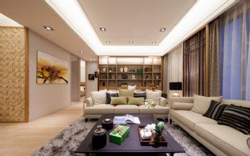 112平简约风格案例简约客厅装修图片