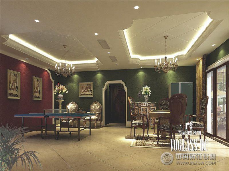 龙湾半岛英式田园风格案例欣赏-阁楼装修效果图-八六