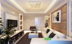 信达蓝湖郡两室两厅105平简欧风格装修效果图欧式风格二居室