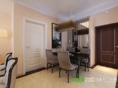 华强广场113平三室两厅简欧风格装修效果图欧式餐厅装修图片