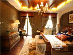 鹭湖宫独栋别墅装修案例美式卧室装修图片