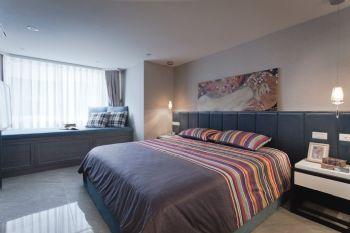 132平现代复式装修案例现代卧室装修图片