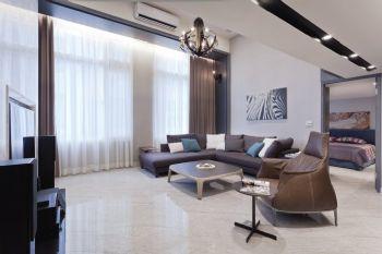 132平现代复式装修案例现代客厅装修图片