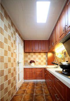 84平田园美式风格装修案例田园厨房装修图片