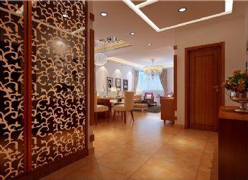 120平三居简欧风格案例欣赏简约客厅装修图片