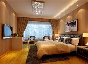120平三居简欧风格案例欣赏简约卧室装修图片