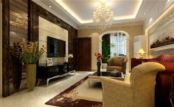 110平现代风格案例现代客厅装修图片