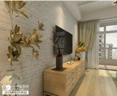 蓝晶国际 90平北欧风格欧式客厅装修图片