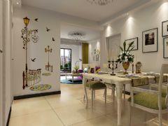 城市之光87平两室两厅现代风格装修效果图现代餐厅装修图片