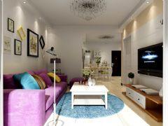 城市之光87平两室两厅现代风格装修效果图现代风格小户型