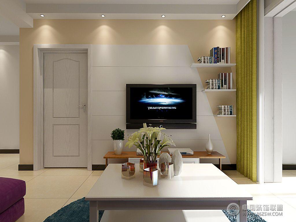 城市之光87平两室两厅现代风格装修效果图