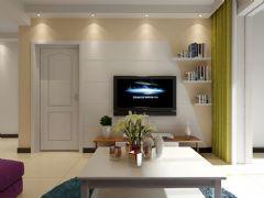 城市之光87平两室两厅现代风格装修效果图现代客厅装修图片